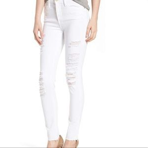FRAME Le Color High Waist Skinny Jeans white